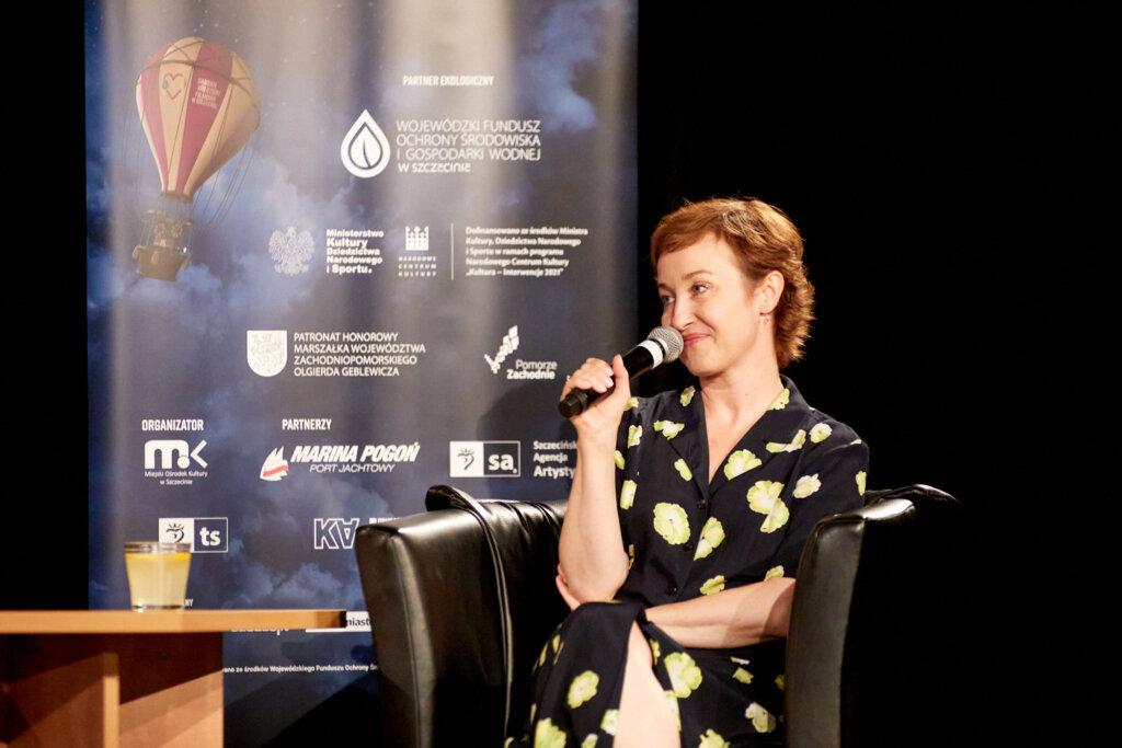 Gabriela Muskała podczas spotkania w ramach 15. DWF