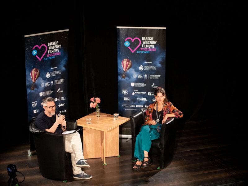 Karolina Bruchnicka i Krzysztof Spór podczas spotkania w ramach 15. DWF