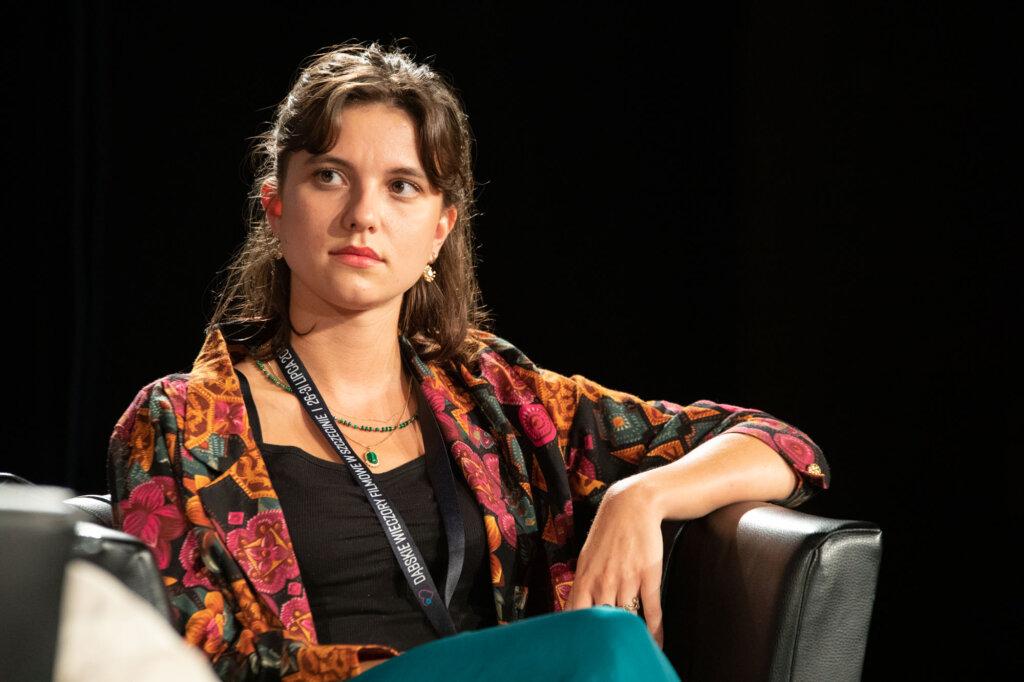Karolina Bruchnicka podczas spotkania w ramach 15. DWF
