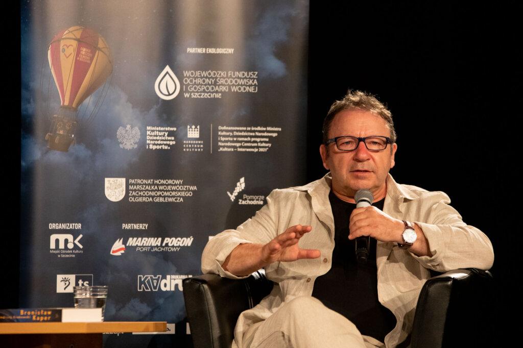 Zbigniew Zamachowski podczas spotkania w ramach 15. DWF