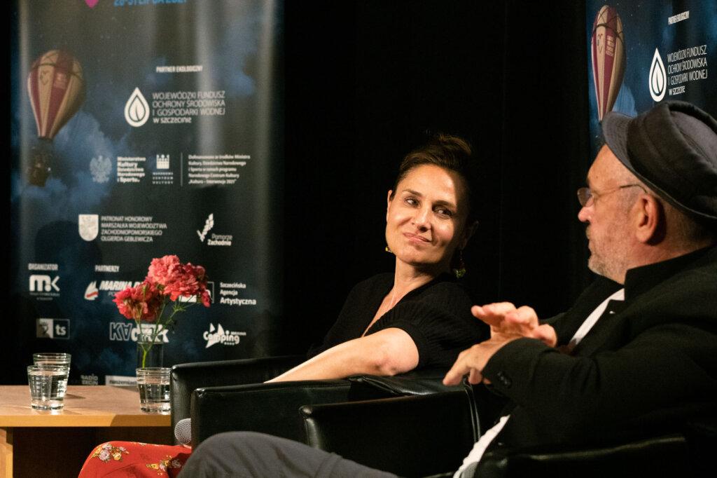 Dorota Landowska i Mariusz Bonaszewski podczas spotkania w ramach 15. DWF