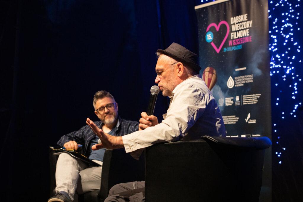 Mariusz Bonaszewski i Krzysztof Spór podczas spotkania w ramach 15. DWF
